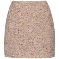Acne Studios Kyte Trash wool-blend mini ($341) ❤ liked on Polyvore featuring skirts, mini skirts, gonne, beige multi, multi colored skirt, mini skirt, retro skirt, wool blend skirt and acne studios