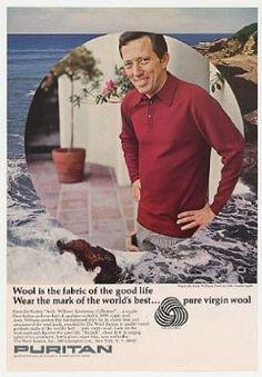 1966 Andy Williams Puritan Wool Shirt Photo Print Ad