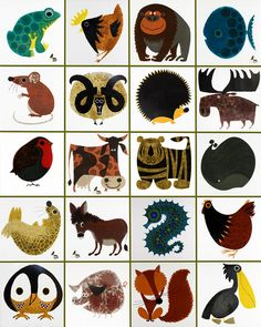 mosaic of vintage Kenneth Townsend 'Menagerie' tiles by H is for Home, via Flickr