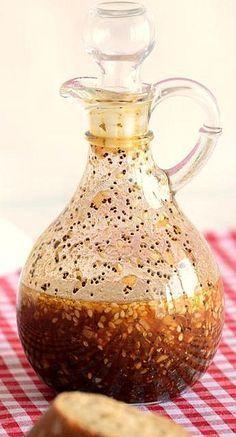 "Called ""Best Dressing"" with Olive Oil, Apple Cider Vinegar, Honey, Dijon Mustard, Soy Sauce, Sesame Seeds, and Garlic"