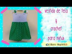Blusa Crochet para Vestido Circular de Tela - YouTube
