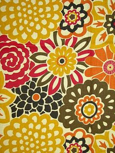 Button Blooms Harvest from HouseFabric.com. I like this one a lot.