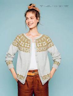 Billedresultat for garnmannen ne 175 Cardigan Design, Cardigan Pattern, Knitting Patterns Free, Knit Patterns, Icelandic Sweaters, Nordic Sweater, Fair Isle Knitting, How To Purl Knit, Vintage Knitting