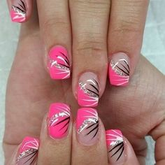 nice 52 Beautiful Pink Nail Designs That Are Suitable for The Winter of 2019 att. - Nail Design Ideas, Gallery of Best Nail Designs Pedicure Designs, Manicure E Pedicure, Toe Nail Designs, Acrylic Nail Designs, Nails Design, Acrylic Nails, Pedicure Ideas, Nail Ideas, Coffin Nails
