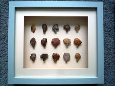 Paleolithic Arrowheads in 3D Frame, Authentic Saharan Artifacts 70,000BC (N007)