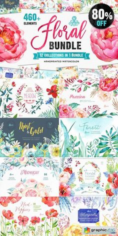 The Floral Bundle 12in1  stock images