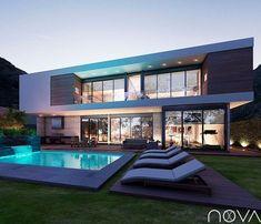 Busca imágenes de diseños de Casas estilo moderno: Fachada posterior. Encuentra las mejores fotos para inspirarte y y crear el hogar de tus sueños.