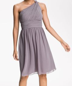 Popular One Shoulder Chiffon Bridesmaid Dress Pics by DressbLee, $89.00 -Buying dresses off etsy?