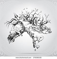 horse and tree tattoo - Google Search