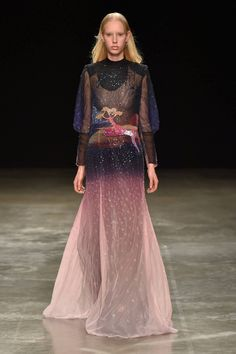 At London Fashion Week, designer Mary Katrantzou let the technicolor world of Fantasia play a huge role in her Autumn/Winter 2017 collection