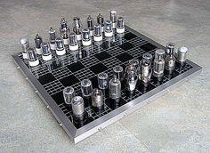 Radio Tube Chess Set