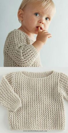 Baby Knitting Patterns A soft spring sweater, available in different pastel colors....
