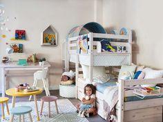 #Dormitorio con muebles a medida #infantil #literas