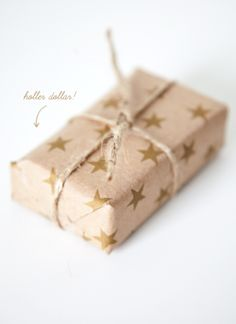 boxwood clippings_holler dollar star wrapping paper