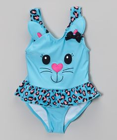 Look at this Candlesticks Blue Kitty Skirted One-Piece - Infant, Toddler & Girls on #zulily today!  $8.99