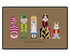 Alice in Wonderland - Cross Stitch PDF Pattern
