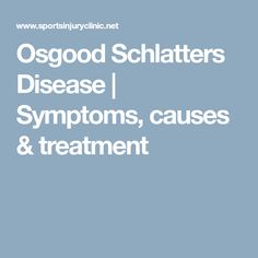 physical therapy for osgood schlatters disease in adults