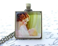 Mother & Child necklace, $11 on Etsy
