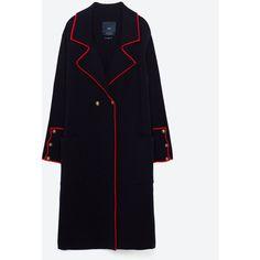 ΠΛΕΚΤΟ ΠΑΛΤΟ ΣΤΡΑΤΙΩΤΙΚΟΥ ΤΥΠΟΥ - ΠΑΛΤΟ-ΠΑΛΤΟ-ΓΥΝΑΙΚΕΙΑ | ZARA ΕΛΛΑΔΑ (150 CAD) ❤ liked on Polyvore featuring coats