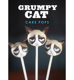 Des cake pops Grumpy Cat !