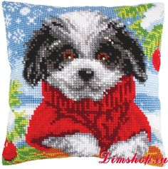 Woolly Winter : Collection d& Cross Stitch Cushion Front Kit : Hama Beads Patterns, Beading Patterns, Cross Stitch Alphabet Patterns, Cross Stitch Cushion, C2c Crochet, Animal Quilts, Cross Stitch Animals, Cushion Covers, Needlepoint