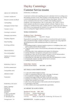 Examples Of Customer Service Skills For Resume Customer Service Resume  Templates, Skills, Customer Services Cv .