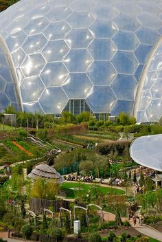 The artificial biomes of the Eden Project in St. Austell, Cornwall, England, would be more at home on the exotic terrain of a foreign planet than nestled in the Cornwall countryside. The biomes house plants from around world, with visitors being able to visit the Tropics and the Mediterranean without ever leaving England.