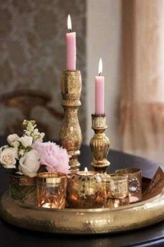 Blush - RoseGold Candles and candlesticks