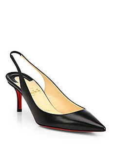 Christian Louboutin - Apostrophy Kid Leather Slingback Pumps