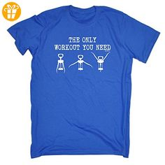 123t Slogans Herren T-Shirt Gr. Medium, Königsblau - Shirts mit spruch (*Partner-Link)