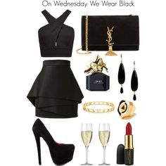 """""""On wednesday we wear black: date day"""" by LizStolen on Polyvore"""