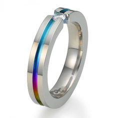 Rainbow Rings - Rainbow Titanium Ring