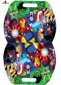 Los Vengadores: Caja Almohada para Imprimir Gratis.