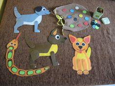 Skládací zvířátka a psí dečka s ozdobami - pro canisterapii  Toys for therapy with dogs