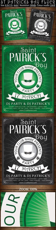 Vintage St Patricks Day Flyer Poster by oloreon on Creative Market