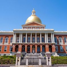 Massachusetts State House building in Boston.