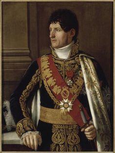 Pietro BENVENUTI (Arezzo , 1769 - Florence , 1844 ) Portrait de Félix Baciocchi MNA 839.1.26 Huile sur toile