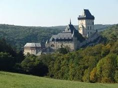 Karlštejn Castle, Czechia.  Founded 1348 AD,        by Charles IV,  Holy Roman Emperor & King of Bohemia.