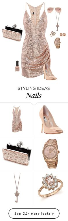 """""""Gold"""" by gone-girl on Polyvore featuring Miss Selfridge, Dune, Ray-Ban, Rolex, Larkspur & Hawk, Charlotte Russe, Vera Bradley and Bloomingdale's"""