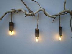 Настенный LED светильник из дерева, ручная работа