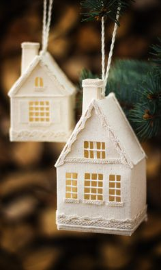 Christmas Tree Decorations, House Christmas Ornaments, Holiday Home Decor, Handmade Gifts Ideas