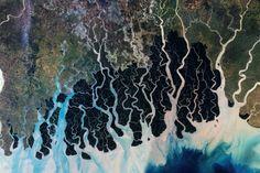 la terre vue de l espace yann arthus bertrand sundarbans inde bengladesh   Photos incroyables de la terre vue de lespace par Yann Arthus Ber...