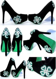 St. Patrick's Day or Irish Wedding Heels with von WickedAddiction, $150,00