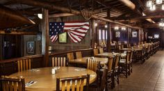 """Mosey over to Trail's End Restaurant for """"Frontier Fixin's & Friendly Folk."""" Located at the Campsites at Disney's Fort Wilderness Resort, this casual restaurant features American and Southern cuisines, from fried chicken to pan-fried catfish."""