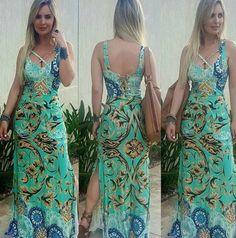Vestido Longo Floral Maxi Botão - Loren http://www.lookstore.com.br/vestido-longo-floral-maxi-botao-loren