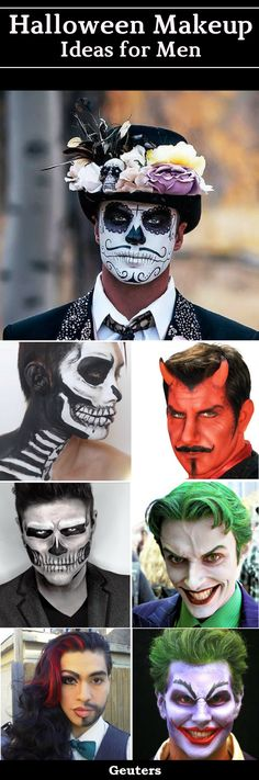 25 Halloween Makeup Ideas for Guys - On the Halloween Eve, these are the special Halloween Makeup Designs for Men which they can try this year. With these makeup ideas, they will look scary, creepy, and unique on the Halloween Day. These look attractive, but these are not very difficult to try, you can easily do your makeup with little efforts, and you'll need a makeup kit.
