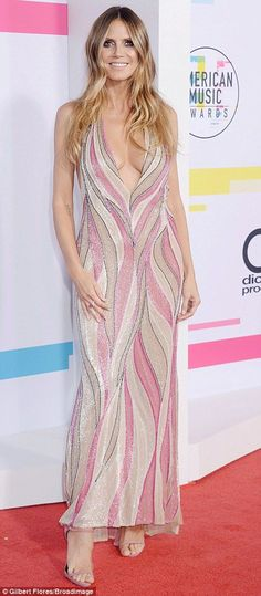 Party dress:Heidi Klum had a similar idea in mind for the American Music Awards; the supe...