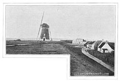 A large windmill in Holland,  located on the Wemeldinge dike 1906.