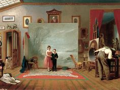 """Thomas Le Clear """"Interior With Portraits"""" 1865 (Smithsonian American Museum of Art, Washington DC)"""