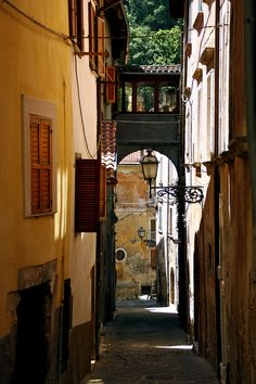 | ♕ | Vicolo - narrow alley in Tagliacozzo, Italy | by © peet-astn    via ysvoice: wampirella